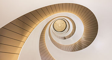 Double helix stairwell